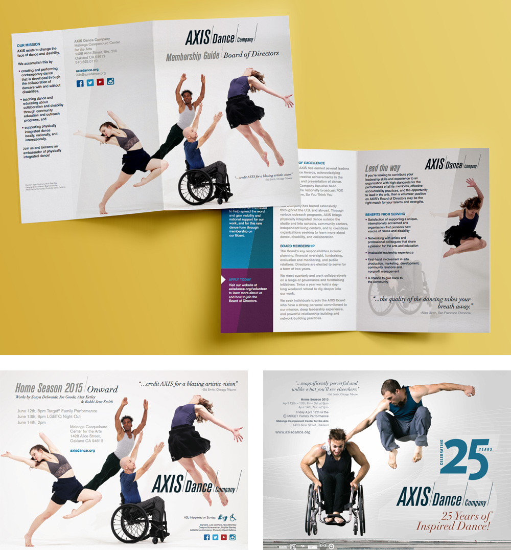 New Logo and Identity for AXIS Dance Company by Comrade