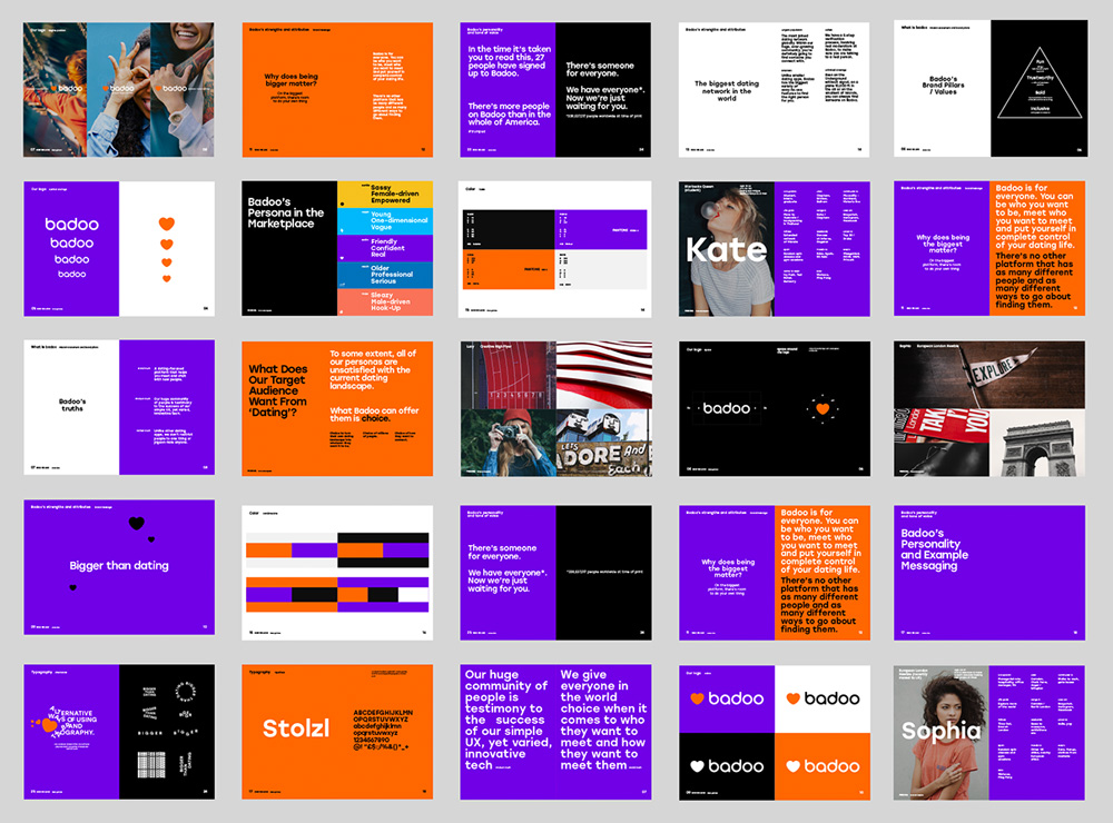 New Logo and Identity for Badoo done In-house