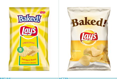 Baked Lay's Packaging, Before and After