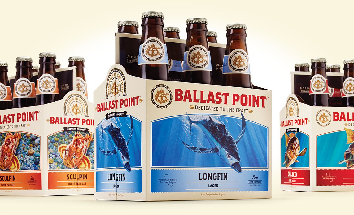 New Logo, Identity, and Packaging for Ballast Point by MiresBall