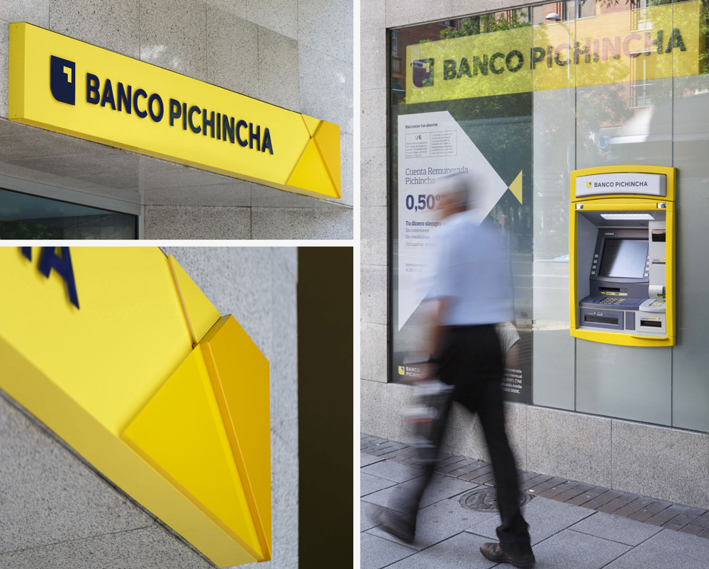 New Logo and Identity for Banco Pinchincha by erretres
