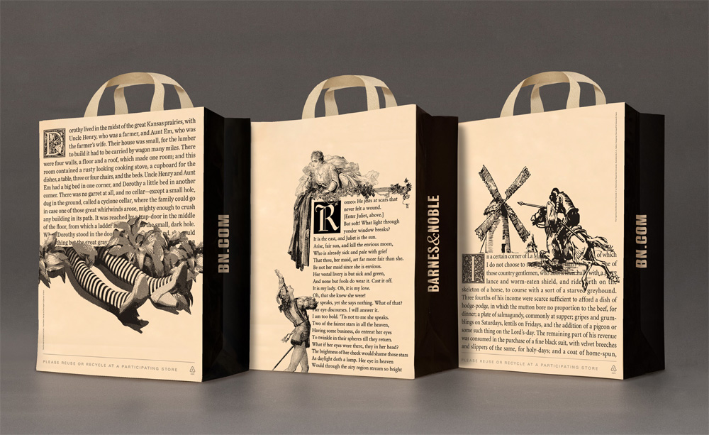 Brand New: New Barnes & Noble Shopping Bags