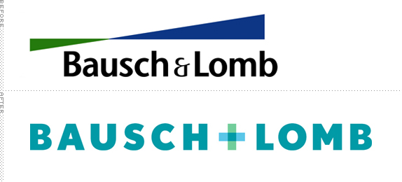 Bausch & Lomb Logo, Before and After