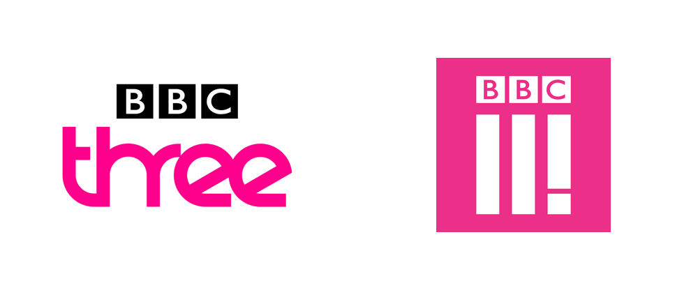 new logo for bbc three or bbc the second