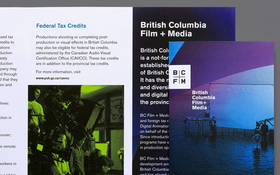 British Columbia Film Logo and Identity