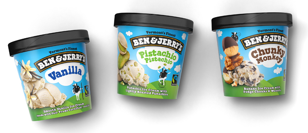 New Packaging for Ben & Jerry's by Pearlfisher