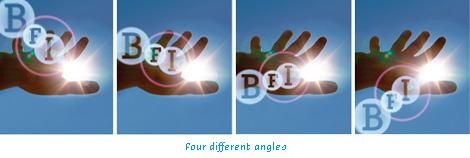 British Film Institute Logo, Four Different Angles