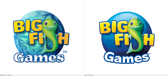 Big Fish Games Logo, Before and After