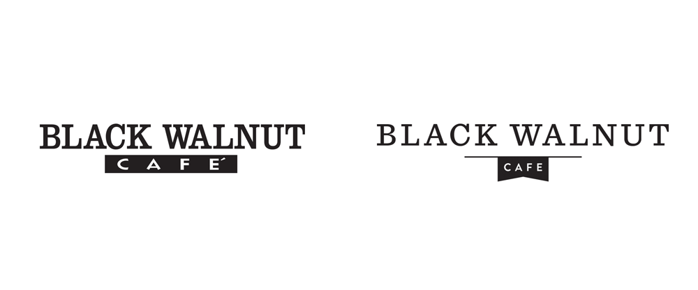 New Logo and Identity for Black Walnut Cafe by Principle