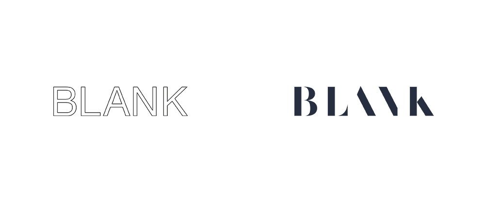 brand new new logo and identity for blank by moving brands