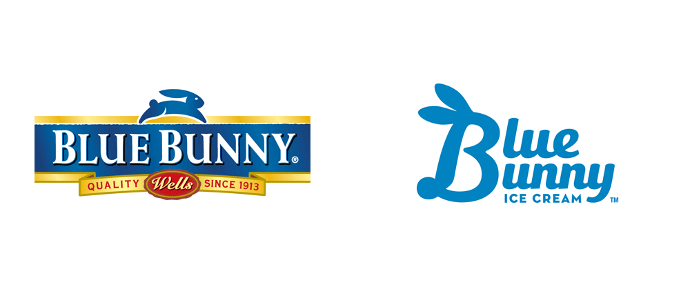 brand new new logo and packaging for blue bunny
