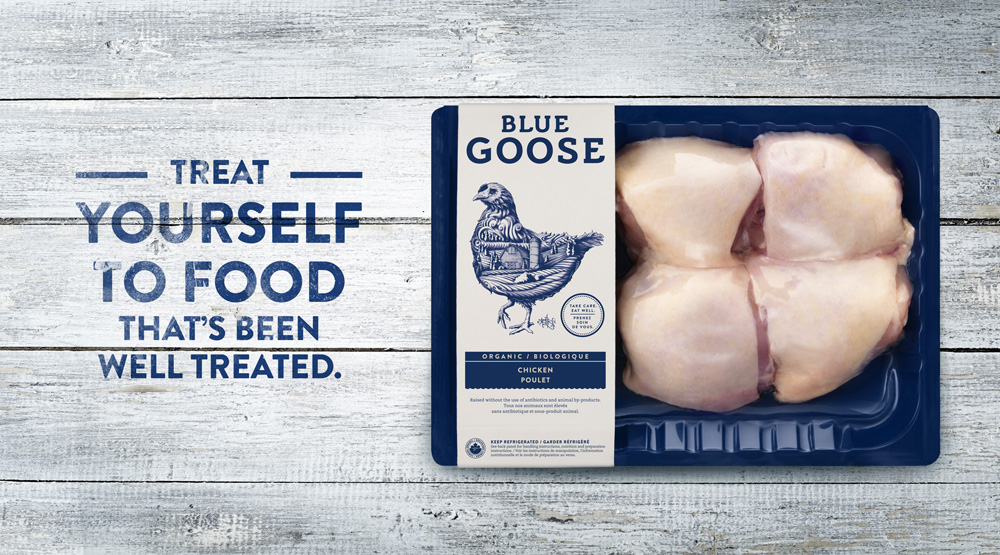 New Logo, Identity, and Packaging for Blue Goose Pure Foods by Sid Lee