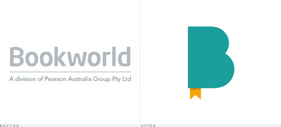 Bookworld Logo, Before and After