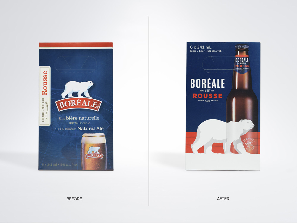 New Logo and Packaging for Boréale by lg2boutique