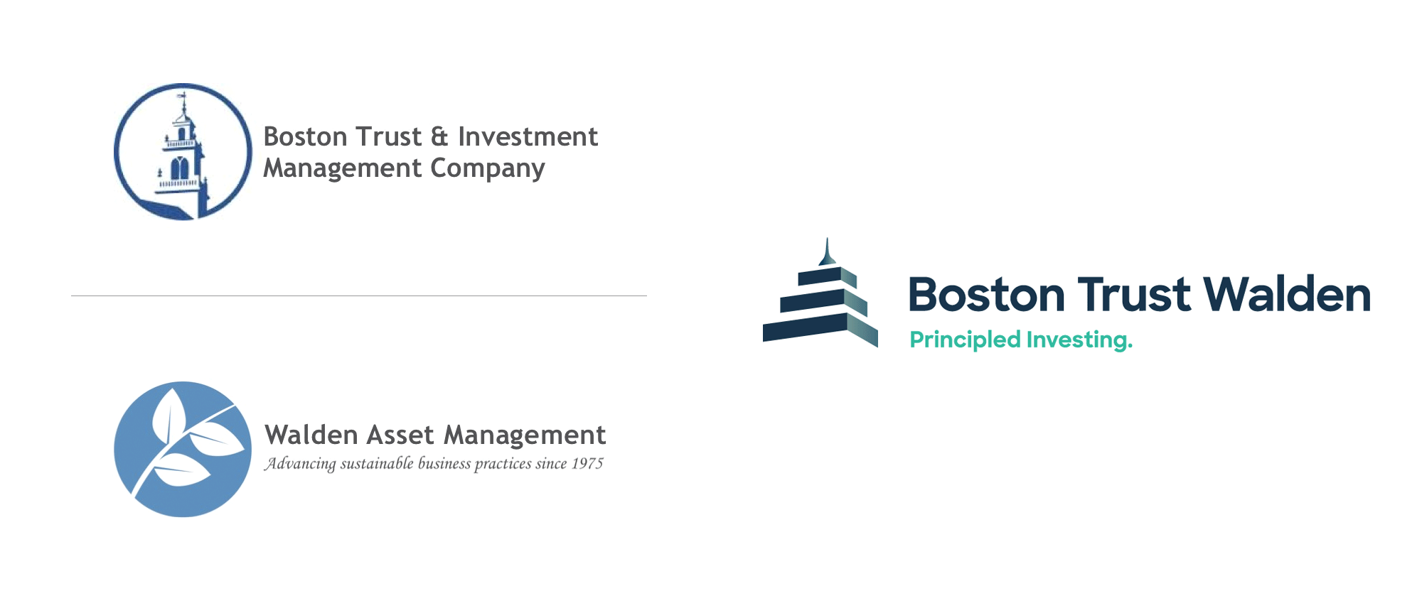 New Logo and Identity for Boston Trust Walden by North Street