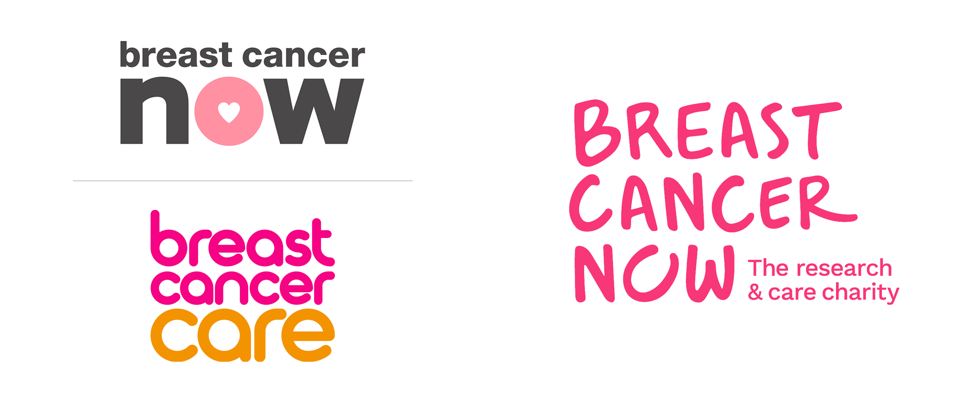 New Logo and Identity for Breast Cancer Now by Wolff Olins