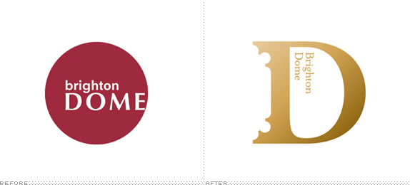 Brighton Dome Logo, Before and After