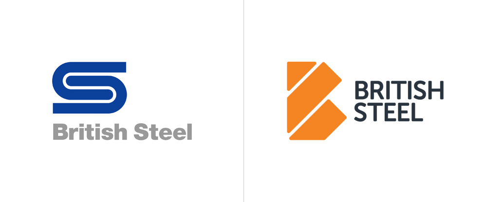 Brand New: New Logo and Identity for British Steel by Ruddocks