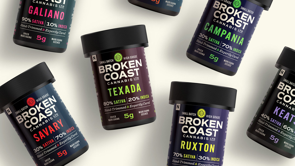 New Logo, Identity, and Packaging for Broken Coast Cannabis by Webb Creative