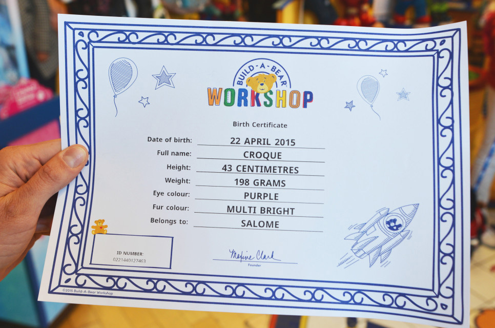 Brand new new logo and identity for build a bear by idea is everything for Build a bear birth certificates