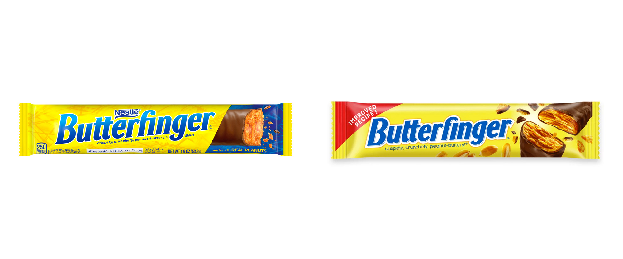 New Logo and Packaging for Butterfinger