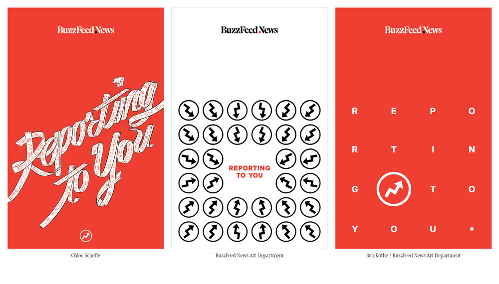 New Logo and Identity for BuzzFeed News done In-house
