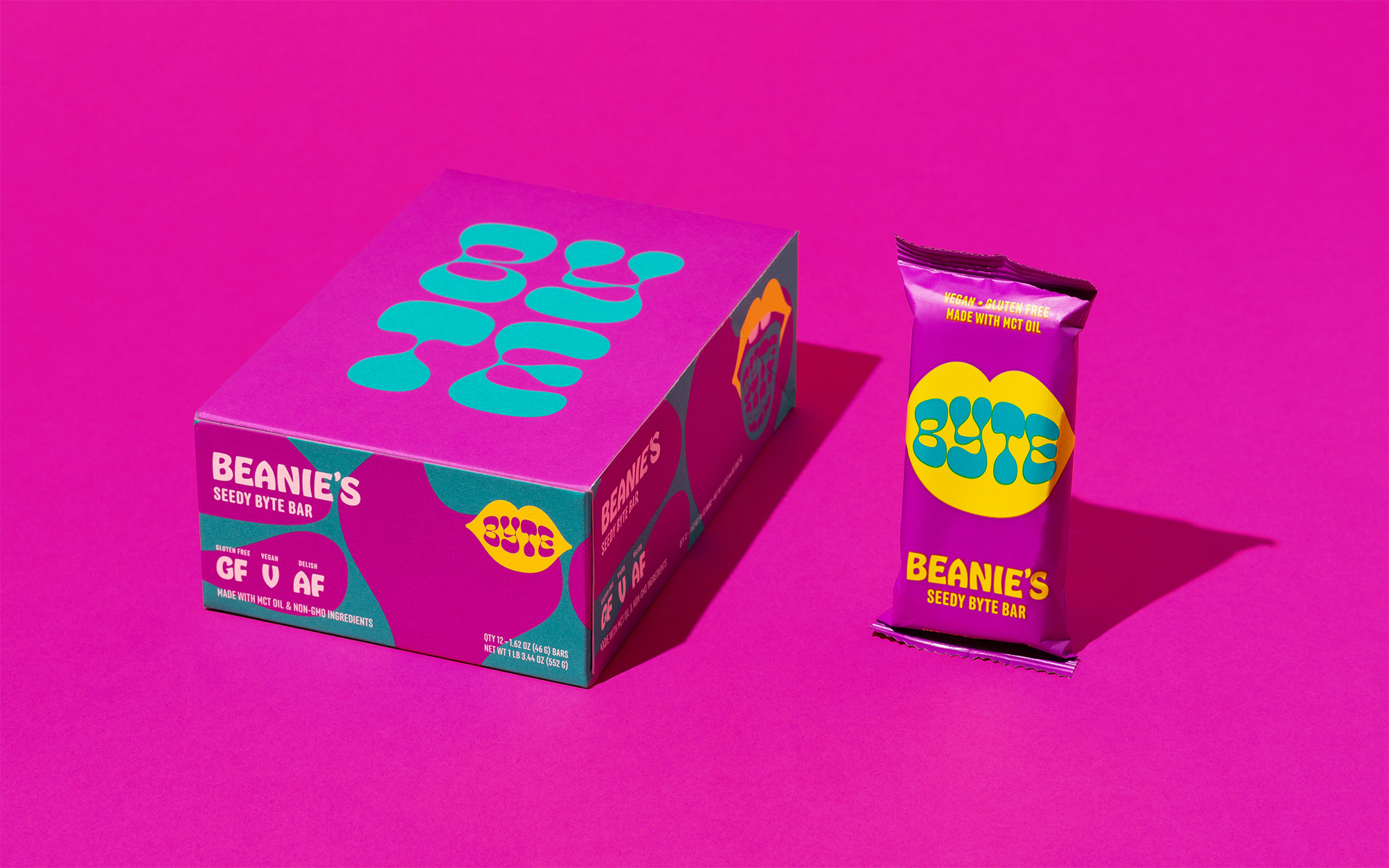 New Logo and Packaging for Byte Bars by Cast Iron Design