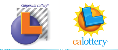 California Lottery Logo, Before and After
