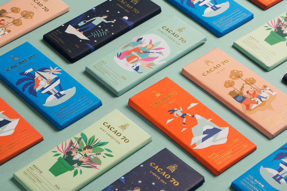 New Logo, Identity, and Packaging for Cacao 70 by In Good Company