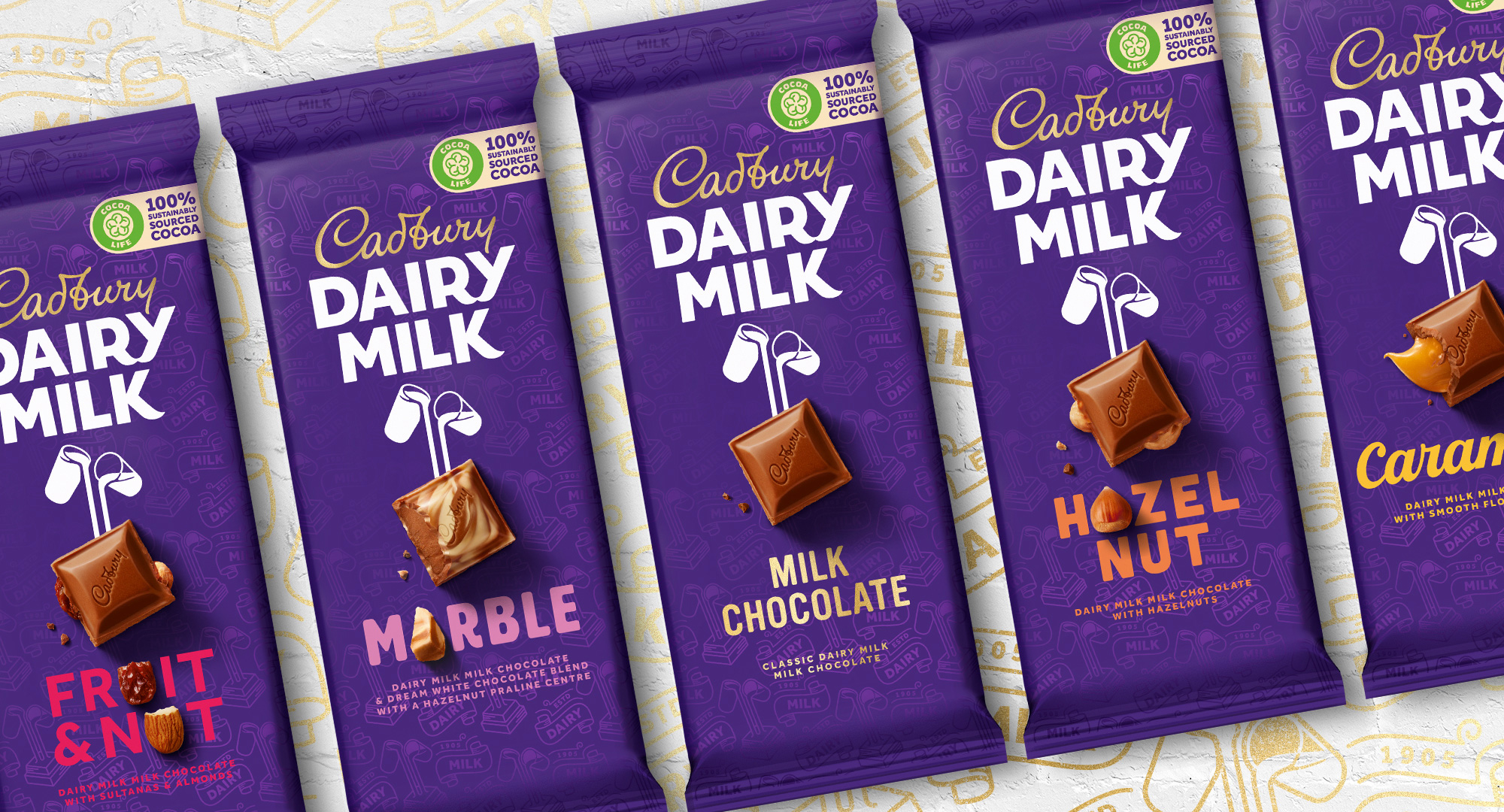 New Logo, Identity, and Packaging for Cadbury by Bulletproof