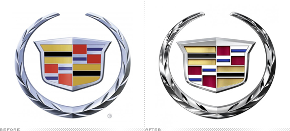 Cadillac Logo, Before and After