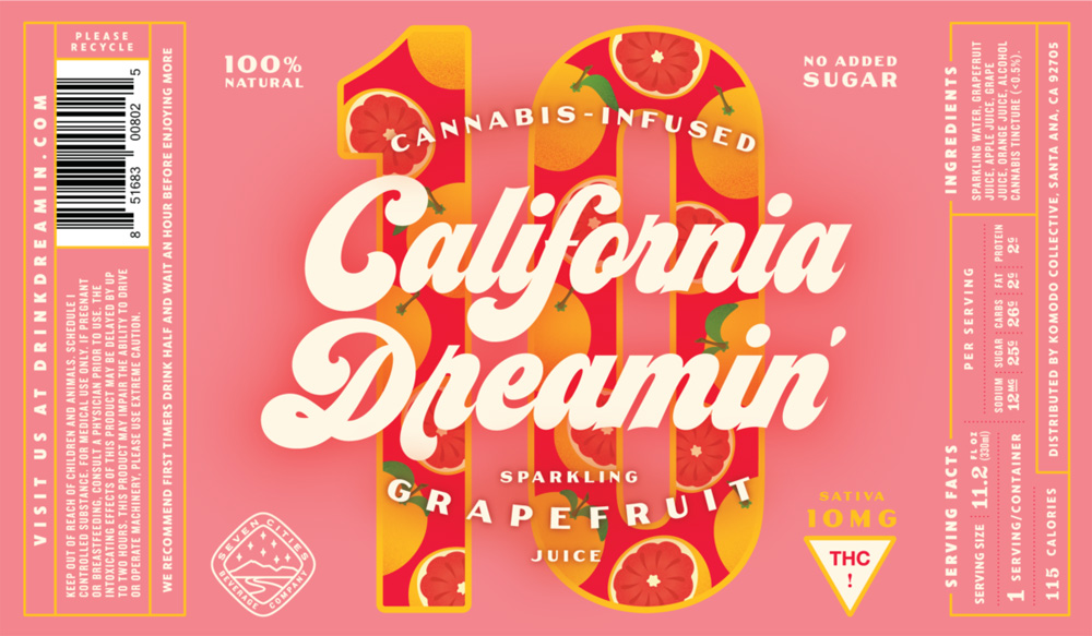 New Packaging for California Dreamin' by CODO Design