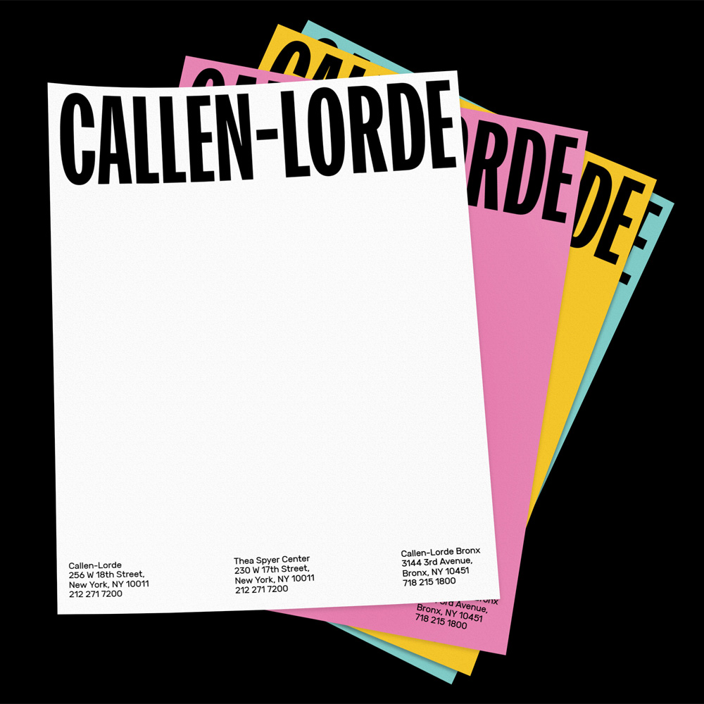 New Logo and Identity for Callen-Lorde by Mother Design
