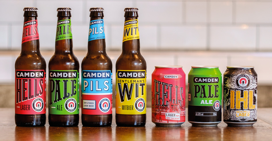 New Logo and Packaging for Camden Town Brewery by Studio Juice