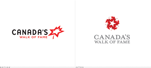 Canada's Walk of Fame Logo, Before and After