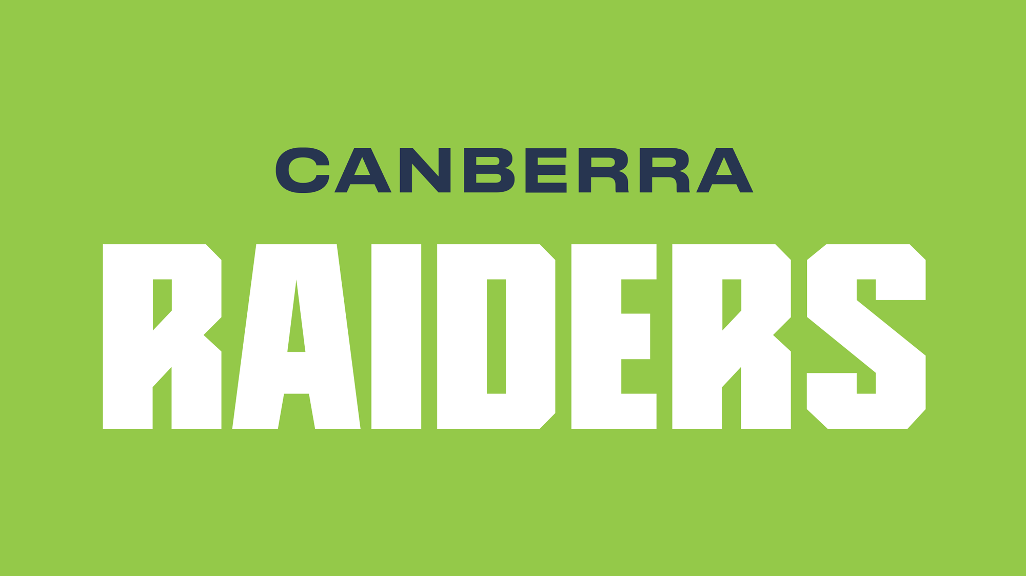 New Logo and Identity for Canberra Raiders by Inklab