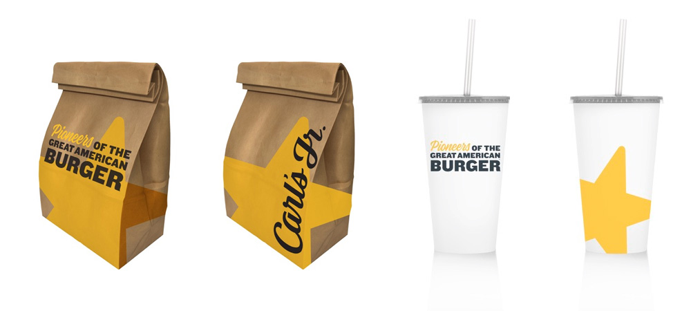 New Logo and Identity for Carl's Jr. and Hardee's by 72andSunny