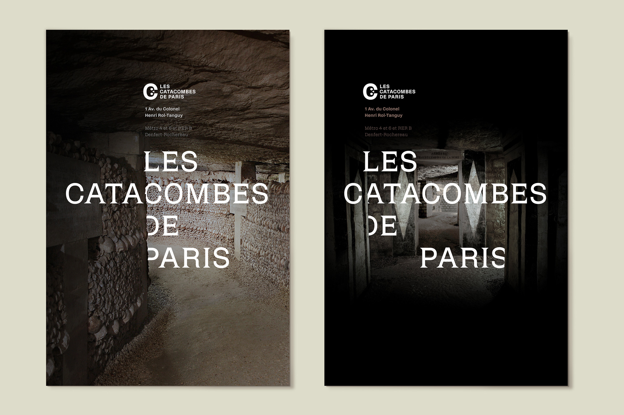 New Logo and Identity for Catacombes de Paris by Mo-To