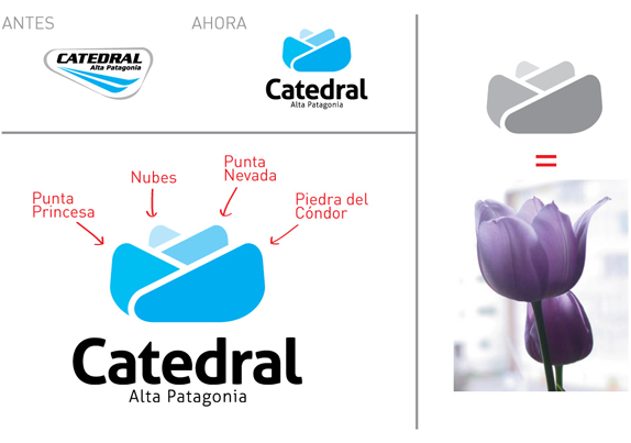 Catedral Alta Patagonia Logo, Before and After