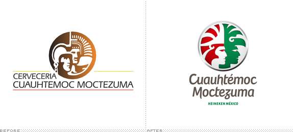 Cuauhtémoc-Moctezuma Logo, Before and After