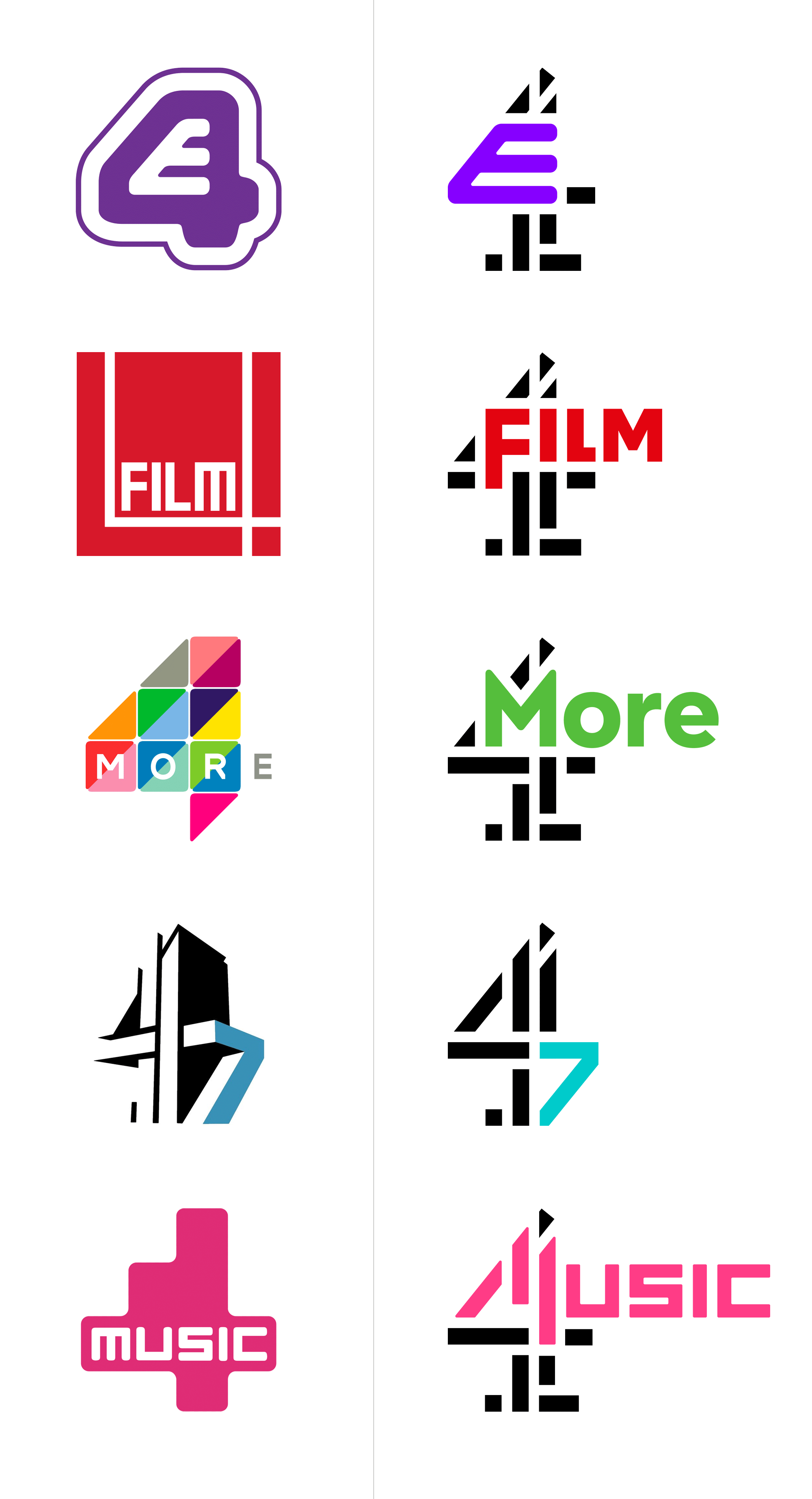 New Logos for all Channel 4 by 4creative and ManvsMachine