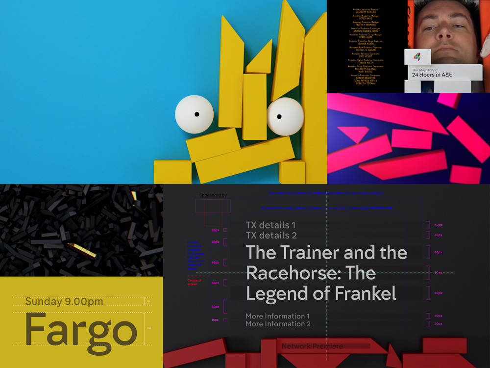 New Identity and On-air Package for Channel 4 led by 4creative