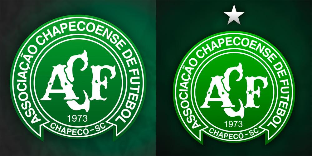 Chapecoense Logo gets Stars