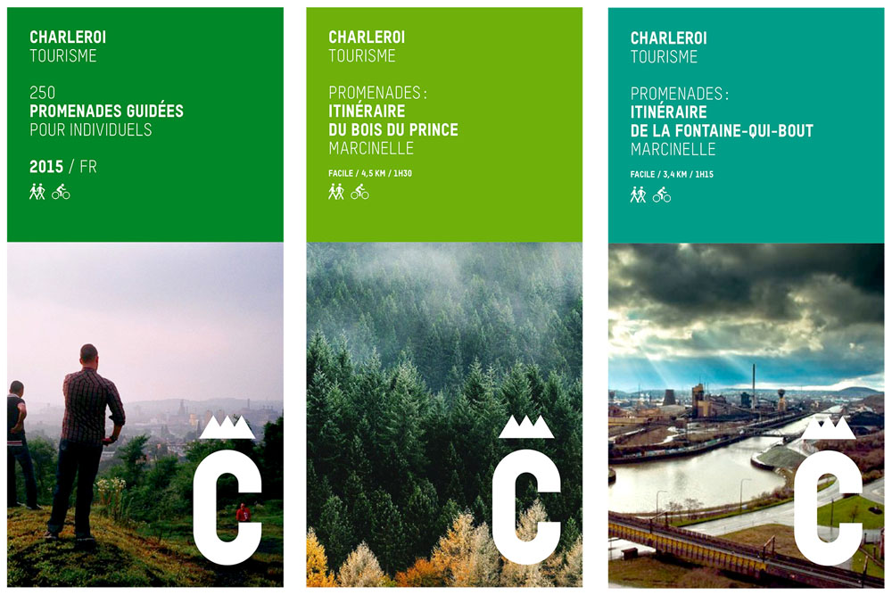 New Logo and Identity for Charleroi by Pam et Jenny