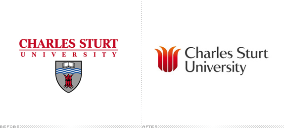 Charles Sturt University Logo, Before and After