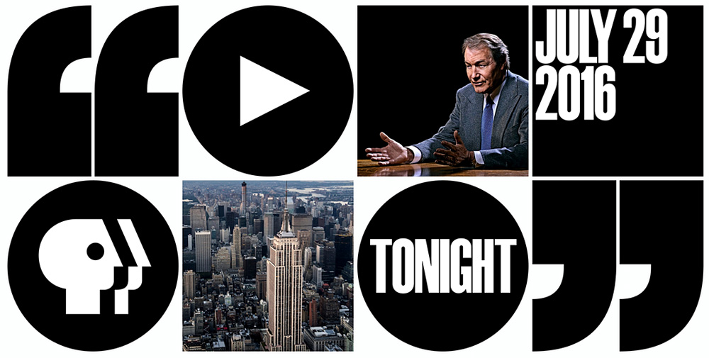 New Logo and Identity for Charlie Rose by Pentagram