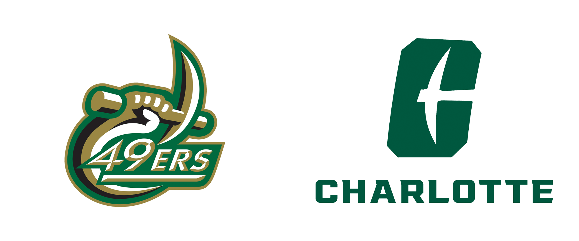 New Logos for Charlotte 49ers by Luquire George Andrews
