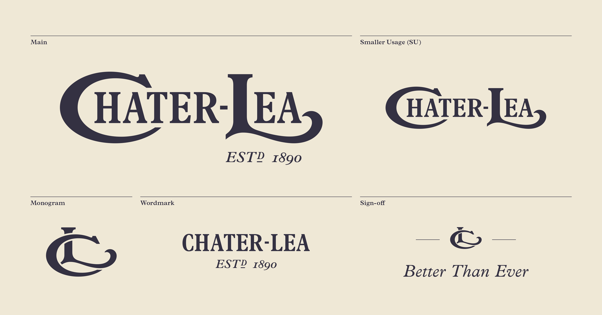 New Logo and Identity for Chater-Lea by Nous House