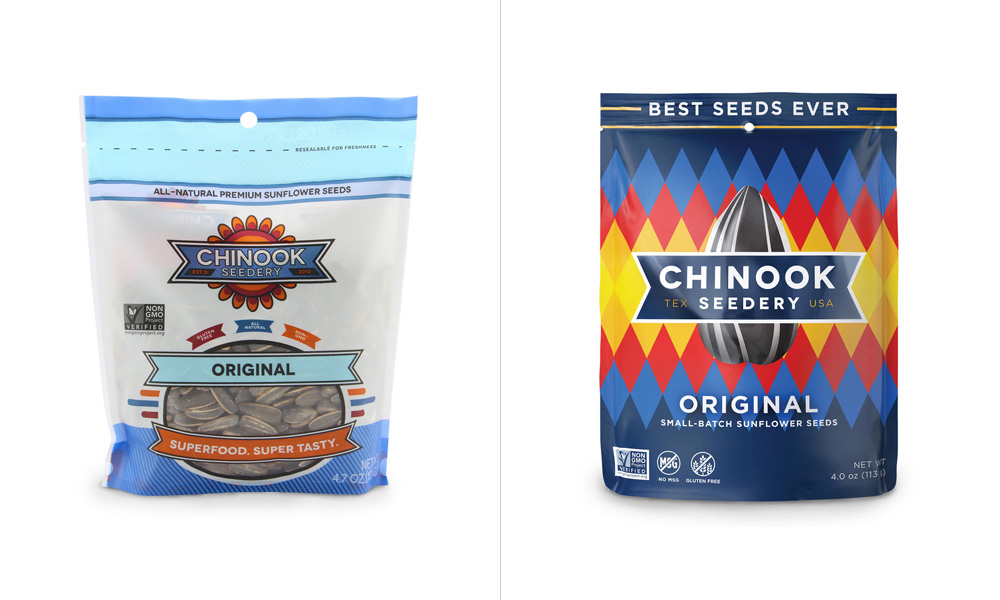 New Logo and Packaging for Chinook Seedery by Helms Workshop