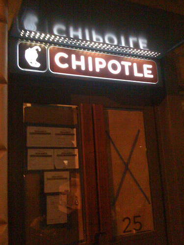Chipotle Logo, on Store